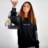 Comfy crew neck sweatshirt. Black Pretty Vulgar pull over.