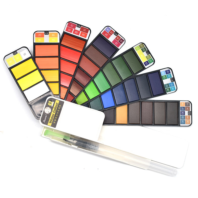 Vivus® Portable Watercolor Color Set