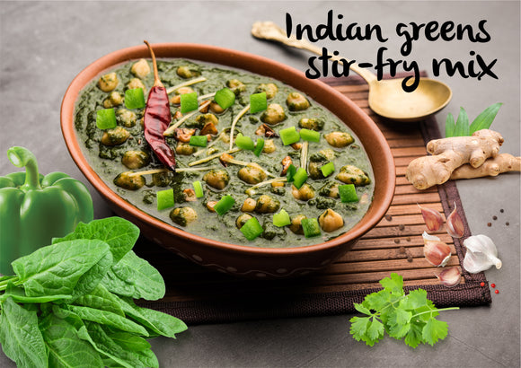 Indian green stir-fry mix - Serves 3-4 - Gourmet Garden