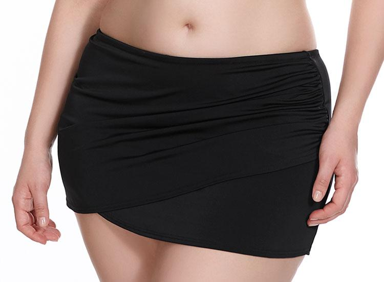 Essentials Wrap Skirted Brief ES7619 -Black