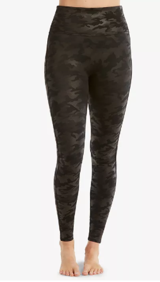 Faux Leather Camo Leggings