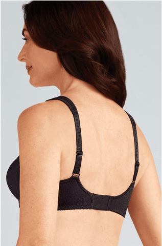 Amoena Mona Seamless Non-Wire Bra - Black, Cognac Bra, Post-Breast Surgery Amoena
