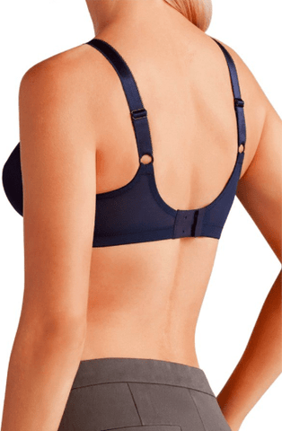 Amoena Rita Wire-Free Soft Bra 2004 - Black, Navy Bra, Post-breast surgery Amoena