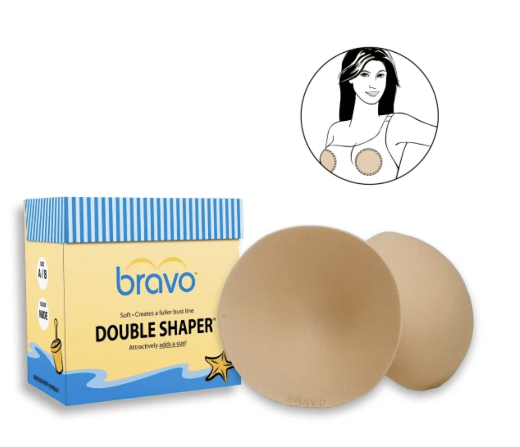 Bravo Double Shaper Bra Padding 9800 Accessories Nude / B/C Bravo