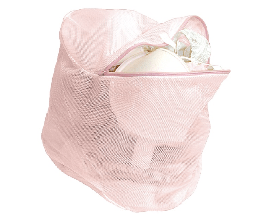 Braza Silky Sac Lingerie Bag Accessories Pink, White / O/S Braza
