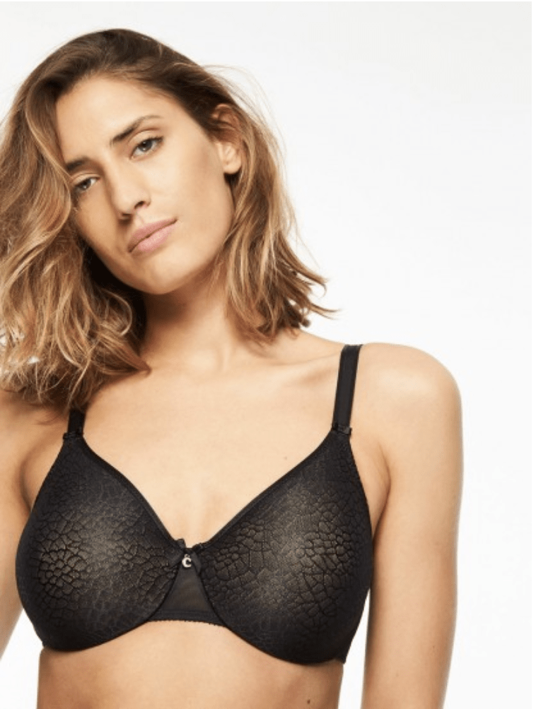 Chantelle Seamless Unlined Minimizer 1891 Bras Black / C / 34 Chantelle
