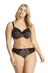 Elomi Morgan Underwire Banded Stretch Bra EL4110 - Ebony