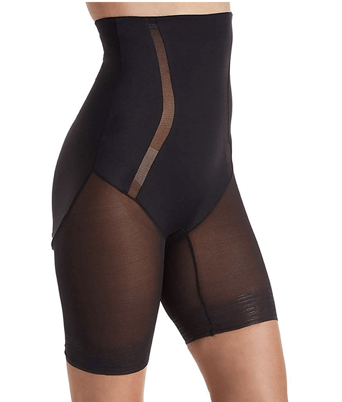 TC Middle Manager Hi Waist Thigh Slimmer 4289 Shapewear Black / S TC
