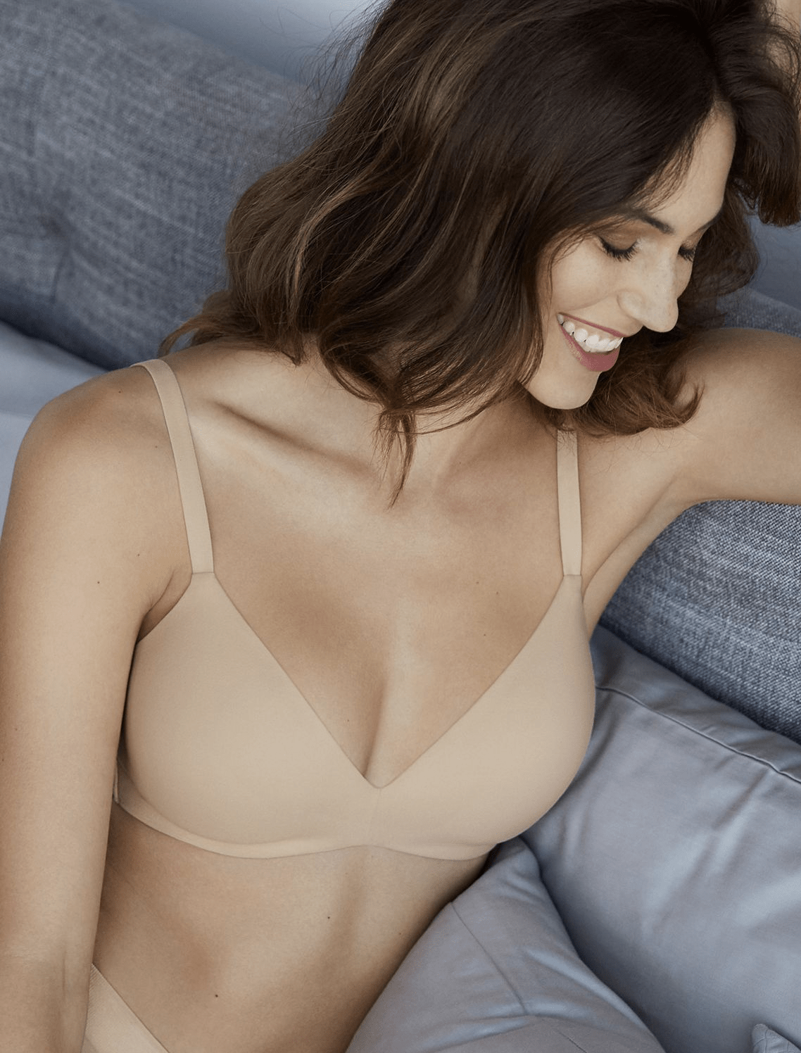 Wacoal How Perfect Wire-Free Bra 852189 Bras Sand / A / 34 Wacoal