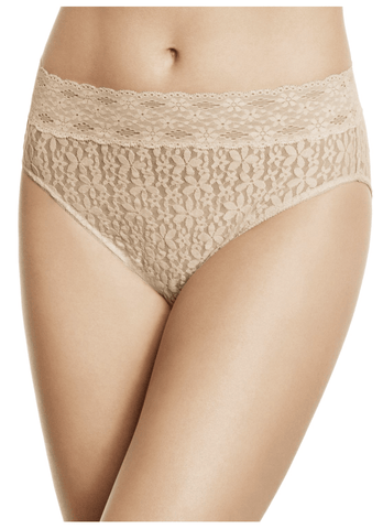 Wacoal Lace Lace Hi-Cut Brief 870305 Panties Black / S Wacoal