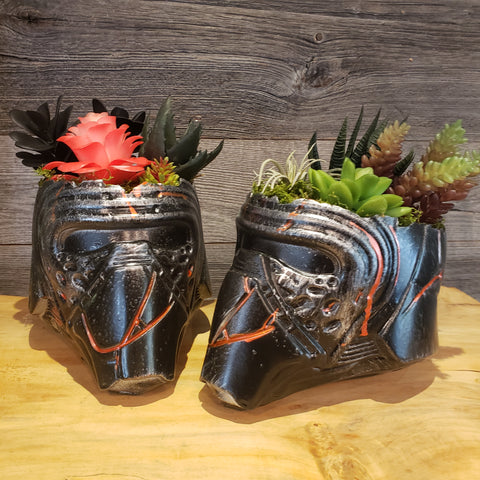 Kylo Ren  Helmet Planter succulents air plants  terrarium decor