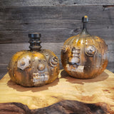 Steampunk Steampunkin robot Pumpkin Halloween Mechanical Pumpkin Sculpture