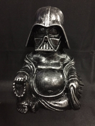 Large Silver  Darth Vader  Buddha  Statue original  Sculpt and cast