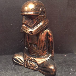 Bronze First Order Storm Trooper Buddha Star Wars  sculpt statue decor