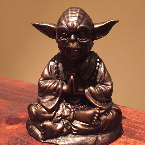 Bronze Yoda Buddha  Statue original  Sculpt and cast