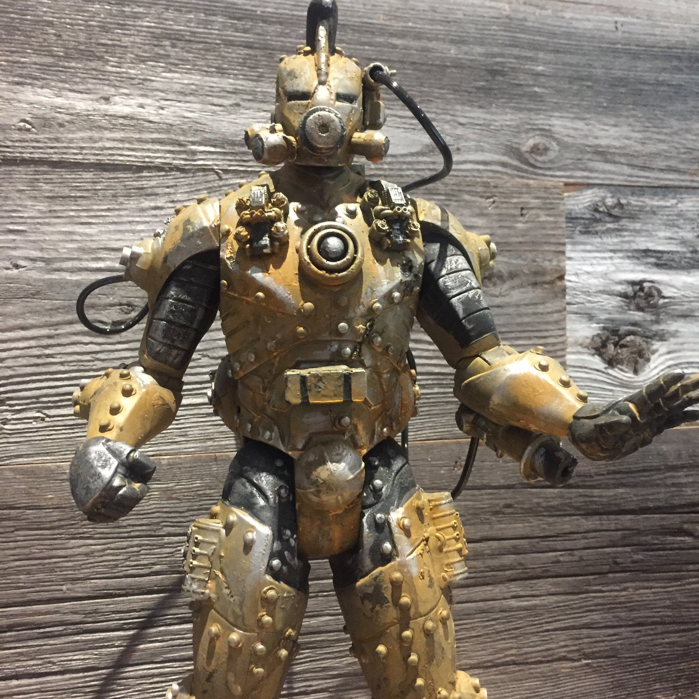 Custom Iron Man Action Figure Gundam MAk Gunpla kitbash Diesel punk