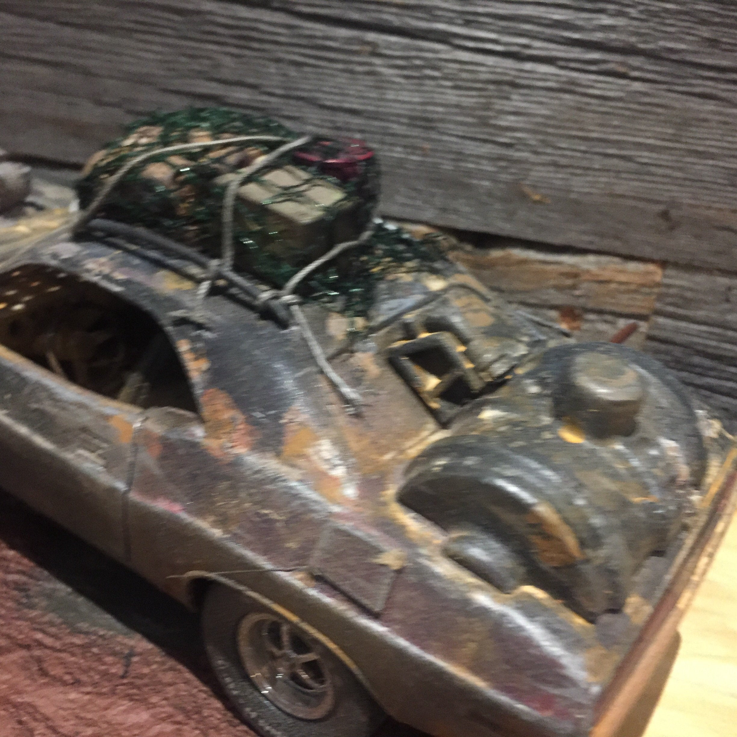 1970 Challenger Custom Vehicle wasteland warrior diorama Kit bash Gi joe