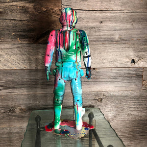 Scout Trooper  resin drip art statue  Star Wars Splatter Splatue