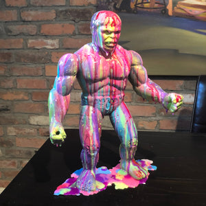 The Hulk  resin drip art statue  Incredible hulk  Splatter Splatue
