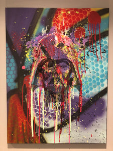 Graffiti Darth Vader Painting  resin drip wall  art  Star Wars Splatter art