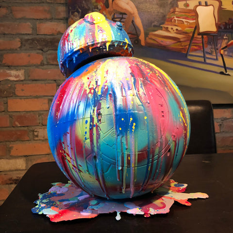 BB-8 resin drip art statue  Star Wars Droid Splatter Splatue Graffiti