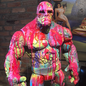 The Thing  resin drip art statue  Splatter Statue Ben Grimm Fantastic Four