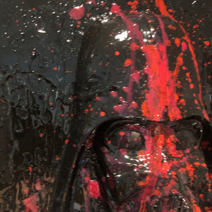 Graffiti  Black series Darth Vader Painting  resin drip wall  art  Star Wars Splatter art