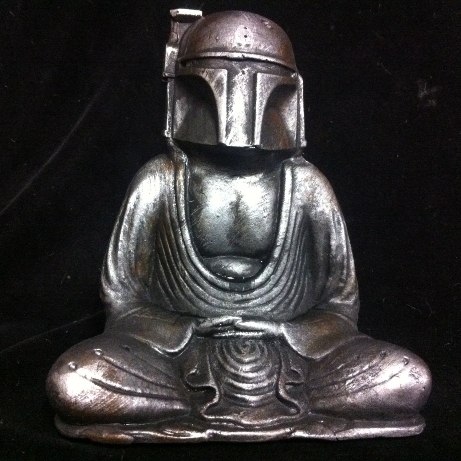 Silver  Buddha Fett  Custom Boba Fett  Buddha  original  Sculpt and cast