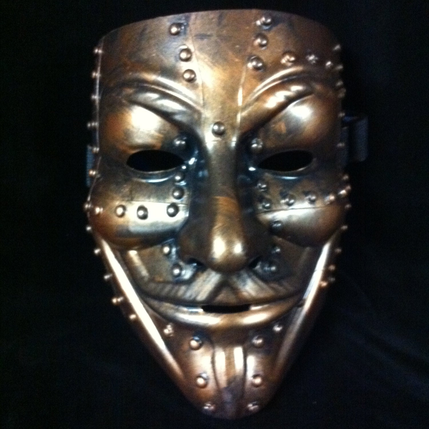 Steampunk Bronze  V for Vendetta mask Guy Fawkes Anonymous