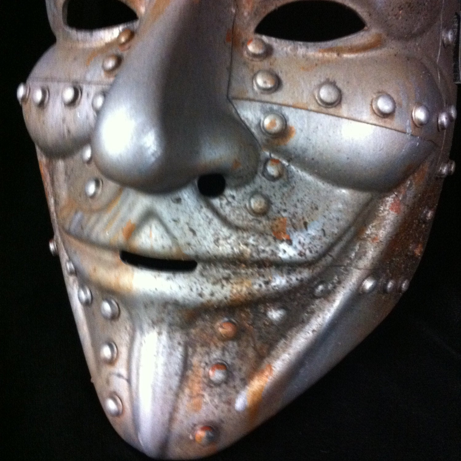 Steampunk Rusted Metal V for Vendetta mask