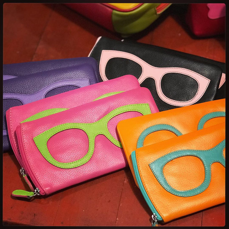 Leather Eyeglass pouch