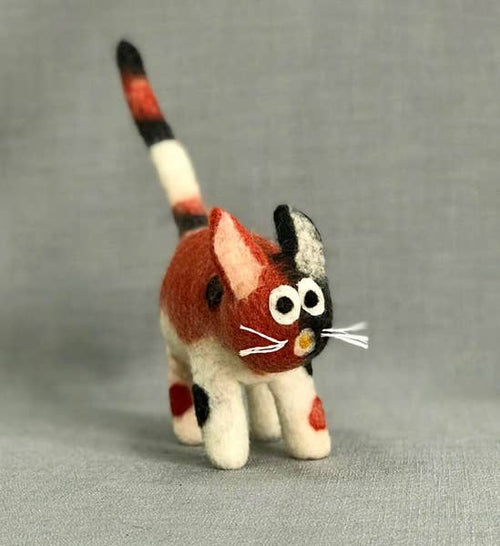 Hand Felted Cat