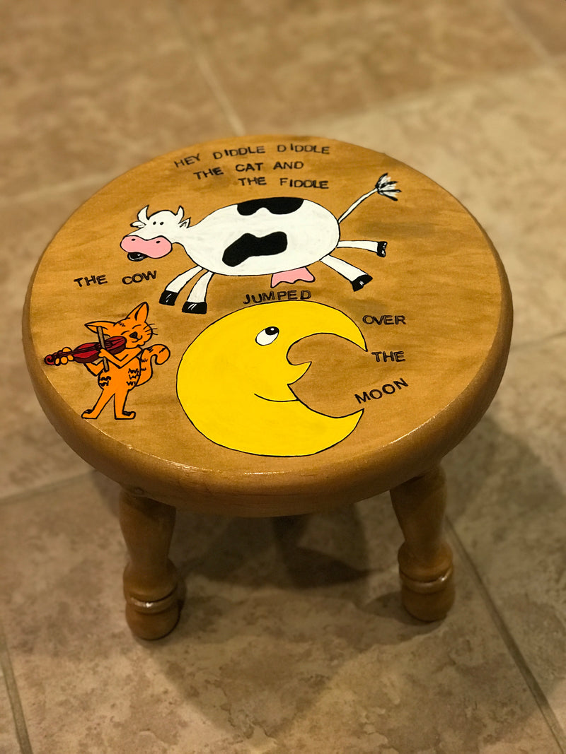 HAND-PAINTED BABY STOOL