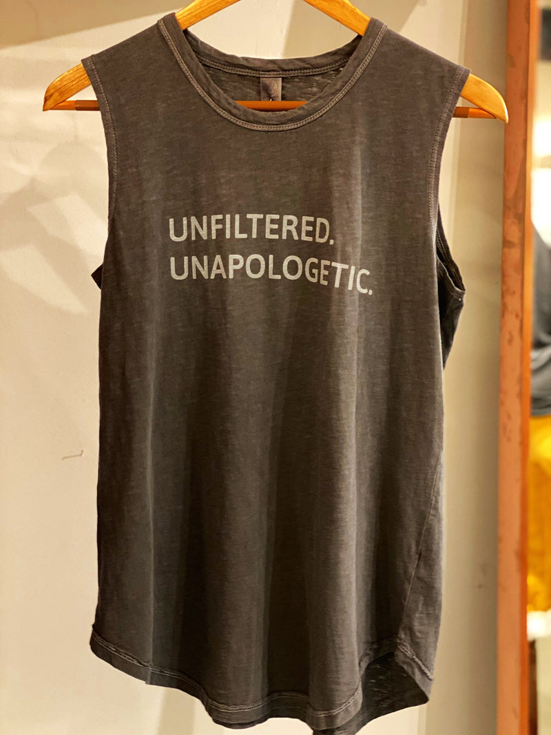 UNFILTERED/UNAPOLOGETIC tank by - SWEARING OFF CANCER