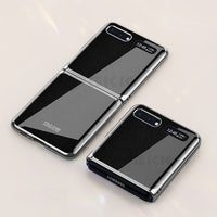 Luxury Pattern Tempered Glass Fold Case For Samsung Galaxy Z Flip