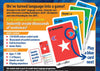 Learn French Card Games Back of Pack MFL Educational Language Game Resource