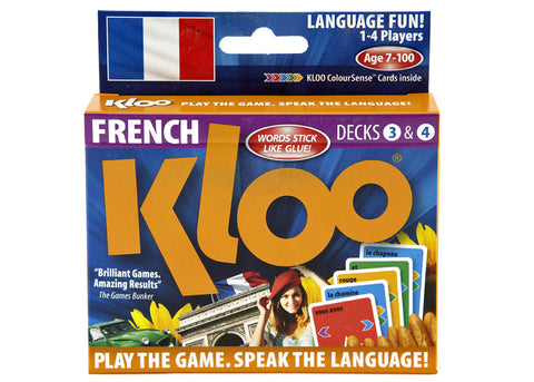KLOO's Learn French Games, Pack 2 (Decks 3 & 4)
