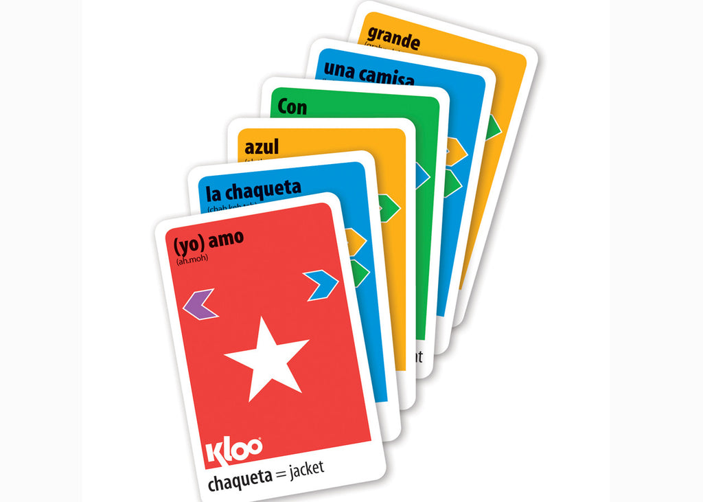 KLOO/'s Race To Madrid The Learn Speak Spanish Language Board Game Shopping Cloth