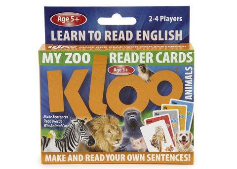 KLOO Zoo - An English Reading Game for Kids, Ages 4 - 6 -  A Children's Literacy Game