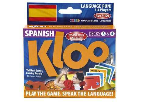KLOO Learn Spanish Games, Pack 2 (Decks 3 & 4)