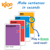 Make Spanish sentences with Learn to Speak Italian Card Games for kids schools and adults. Teach yourself Italian or teach your child Italian