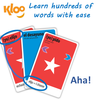 KLOO Learn Spanish Games Combo, Packs 1 and 2 (4 Decks) - Play and Speak Spanish