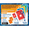 Back of Learn to Speak Italian Card Games for kids schools and adults. Teach yourself Italian or teach your child Italian