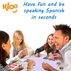 Family playing learn Spanish game Learn to Speak Spanish Card Games for kids schools and adults. Teach yourself Spanish or teach your child Spanish