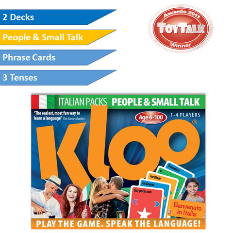 KLOO Learn Italian Games - People & Small Talk -  Pack 1 (Double Deck)
