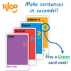 Make Italian sentences with Learn to Speak Italian Card Games for kids schools and adults. Teach yourself Italian or teach your child Italian