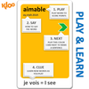 KLOO Learn French Games Combo, Packs 1 & 2 (Decks 1, 2, 3 & 4) - Play and Speak French