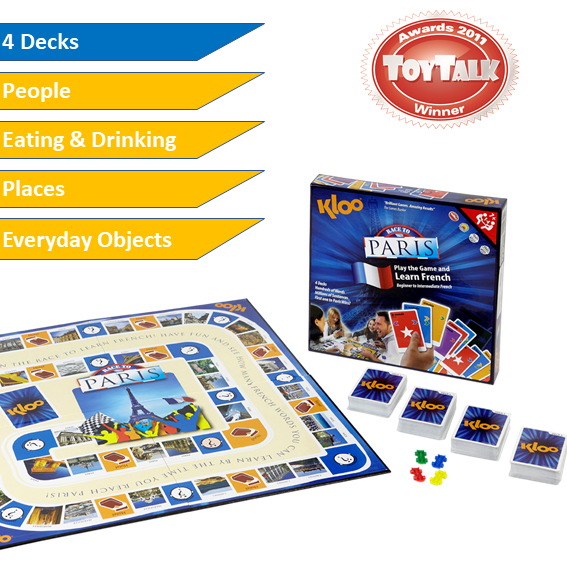 Learn French Board Game for Kids Family Teachers