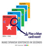 Make Spanish sentences with MFL Spanish Card Games for kids schools and adults. Teach yourself Spanish or teach your child Spanish