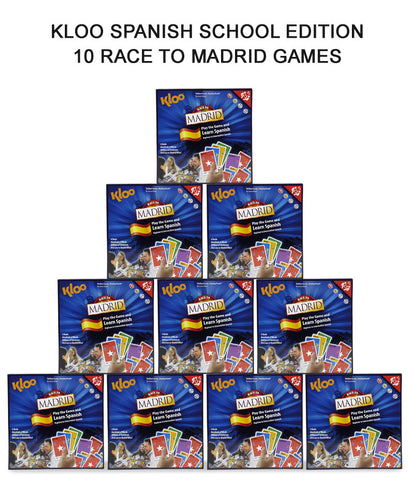 KLOO's Learn Spanish MFL Games - Schools Gold Pack - 10 x Race to Madrid Board Games